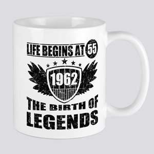 LIFE BEGINS AT 55 THE BIRTH OF LEGENDS 1962 Mugs