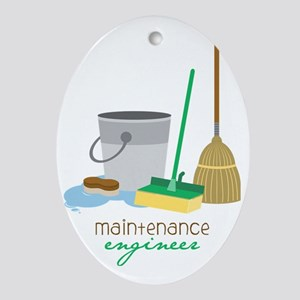 Maintenance Engineer Oval Ornament