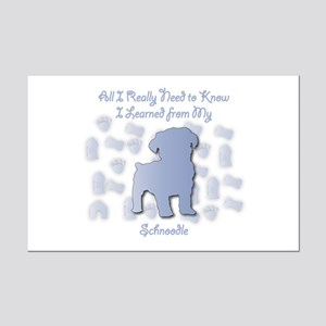 Learned Schnoodle Mini Poster Print