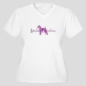 Airedale Grandma Women's Plus Size V-Neck T-Shirt