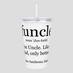 Fun Uncle definition Acrylic Double-wall Tumbler