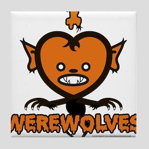 I Heart Werewolves Tile Coaster