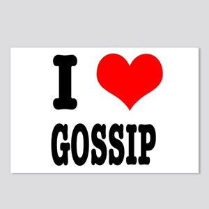 I Heart (Love) Gossip Postcards (Package of 8)
