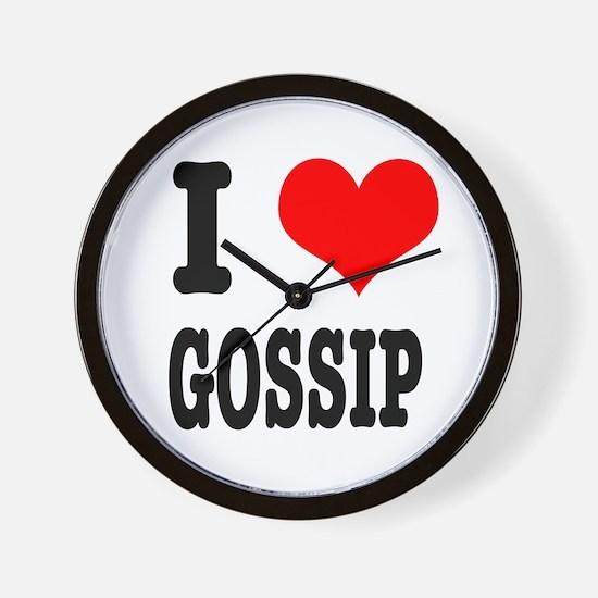 I Heart (Love) Gossip Wall Clock