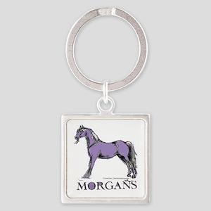 Morgan Horse Square Keychain