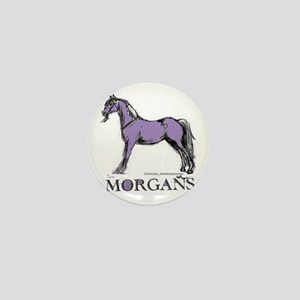 Morgan Horse Mini Button