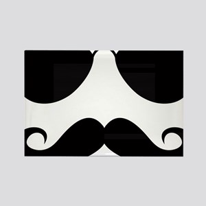 Mustache-025-A Rectangle Magnet