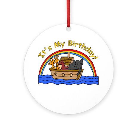 Noah's Ark Birthday Ornament (Round)