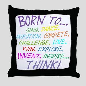 Born To... Throw Pillow