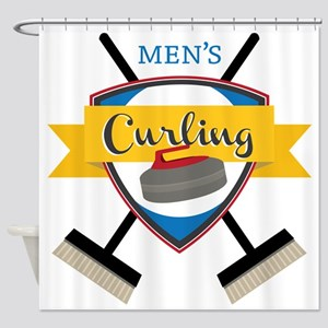 Men's Curling Shower Curtain