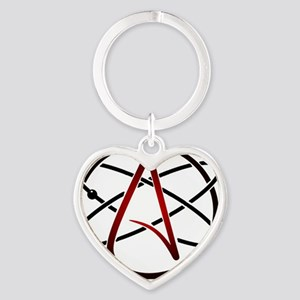 Modern Atheist Atomic Color Heart Keychain