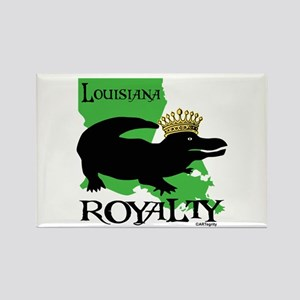 Louisiana Royalty Rectangle Magnet