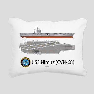 USS Nimitz CVN-68 Rectangular Canvas Pillow