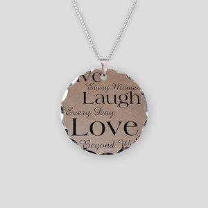 Live, Laugh, Love Necklace Circle Charm