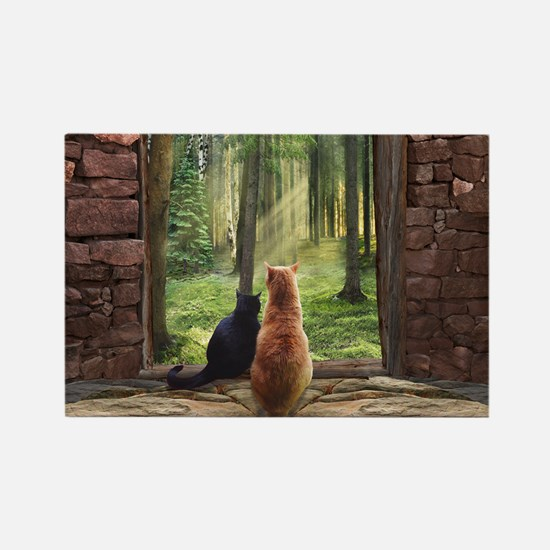 Doorway into Forever nc Rectangle Magnet