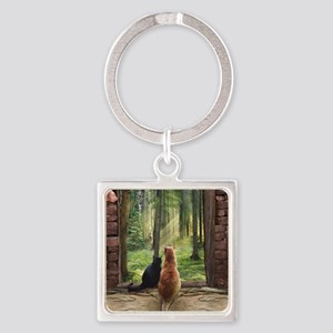 Doorway into Forever nc Square Keychain