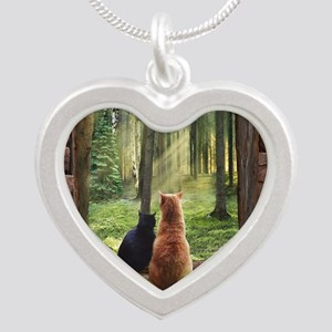 Doorway into Forever nc Silver Heart Necklace
