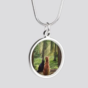 Doorway into Forever nc Silver Round Necklace