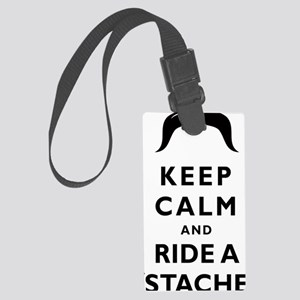 Mustache-085-A Large Luggage Tag
