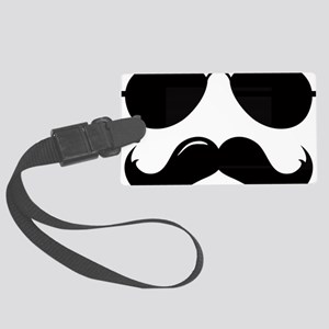 Mustache-087-A Large Luggage Tag