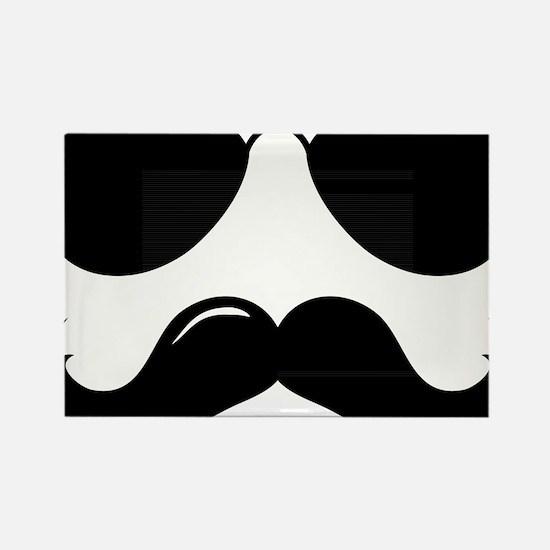 Mustache-087-A Rectangle Magnet