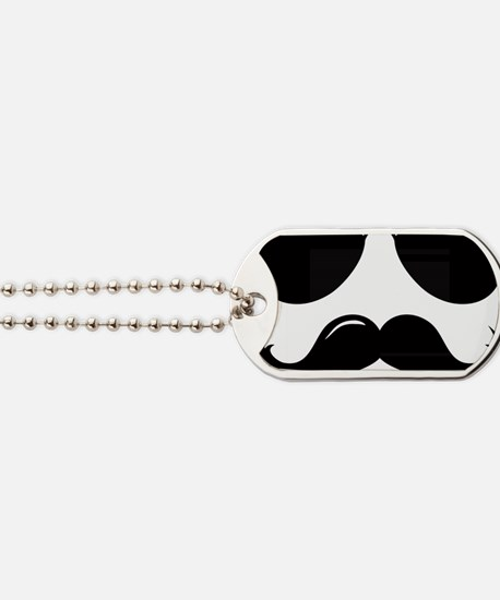 Mustache-087-A Dog Tags