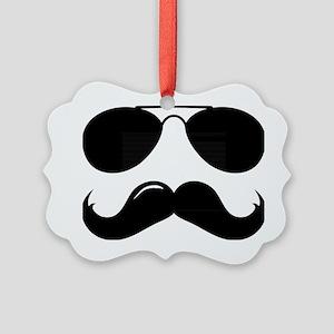 Mustache-087-A Picture Ornament