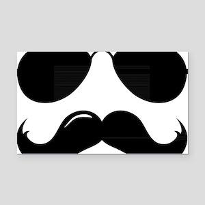 Mustache-087-A Rectangle Car Magnet