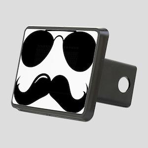 Mustache-087-A Rectangular Hitch Cover