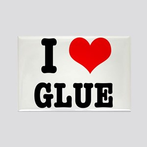 I Heart (Love) Glue Rectangle Magnet