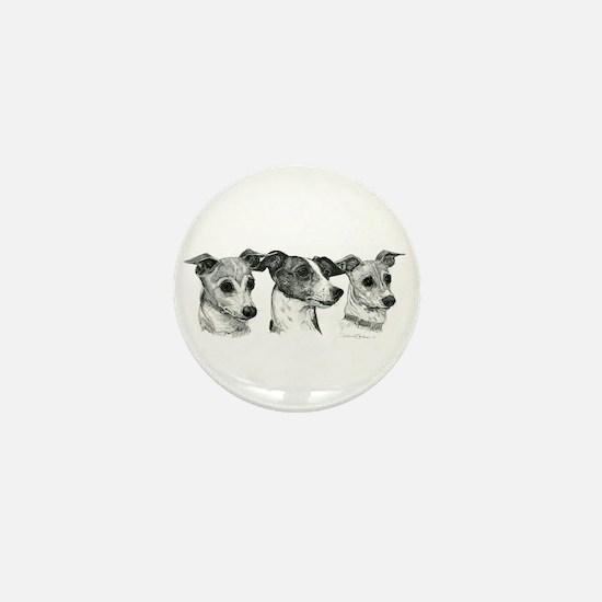 Funny Italian greyhound Mini Button