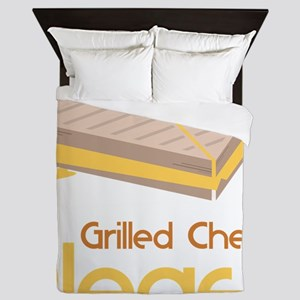 Grilled Cheese Please Queen Duvet