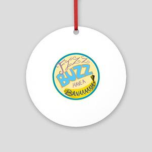 Cabin Pressure: FIZZ BUZZ HAVE A BA Round Ornament