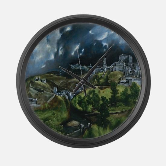 El Greco View of Toledo Large Wall Clock
