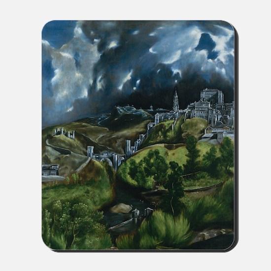 El Greco View of Toledo Mousepad