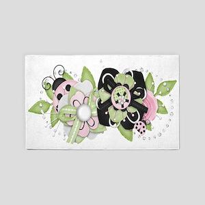 Sweet Pink Ladybug 3'x5' Area Rug