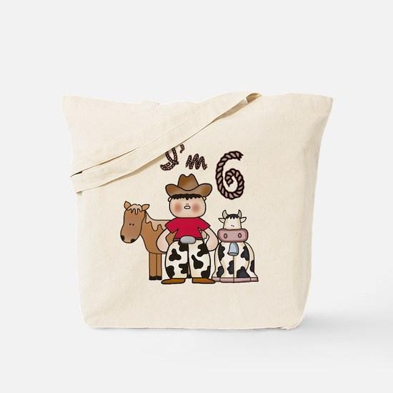 Cowboy 6th Birthday Tote Bag