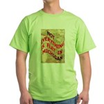 Flat Michigan Green T-Shirt