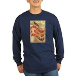 Flat Michigan Long Sleeve Dark T-Shirt