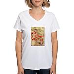 Flat Michigan Women's V-Neck T-Shirt