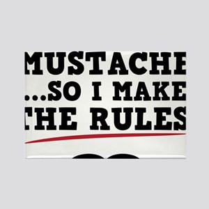 Mustache-076-A Rectangle Magnet