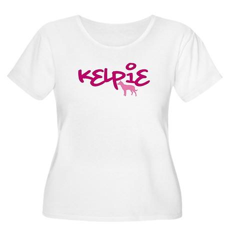 """Australian Kelpie """"Pink"""" Women's Plus Size Scoop N"""