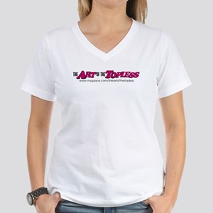 The Art of the Topless Women's V-Neck T-Shirt