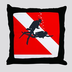 Rescue Diver (white) Throw Pillow