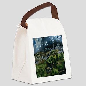 El Greco View of Toledo Canvas Lunch Bag