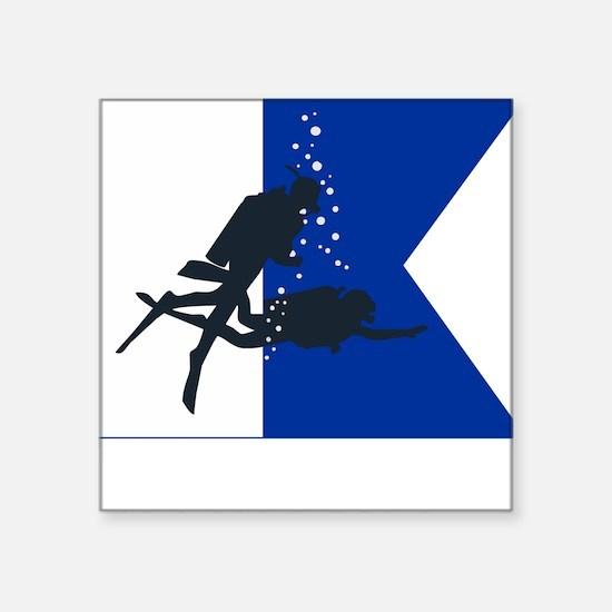 "Dive Australia (white) Square Sticker 3"" x 3"""
