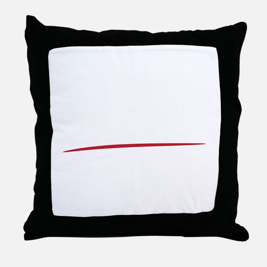 Mustache-100-B Throw Pillow