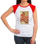 Flat Mississippi Women's Cap Sleeve T-Shirt