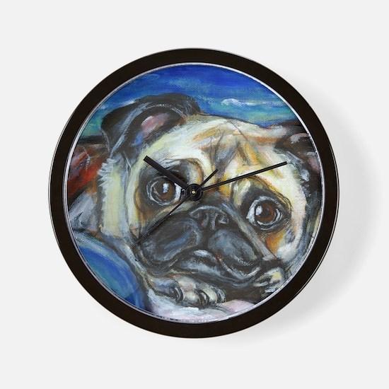 Pug Smile Wall Clock