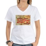 Flat Washington Women's V-Neck T-Shirt